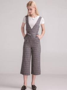 淑女日记女士格子长裤