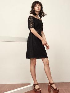 OMUCHO.Y黑色连衣裙