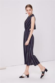NILICO时尚女装2017年春夏新品连体休闲裤