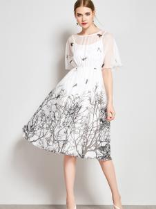 ZIMMUR17新款唯美印花裙