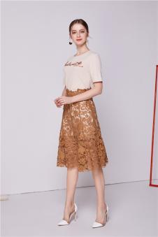 NILICO时尚女装2017年春夏新品蕾丝半裙