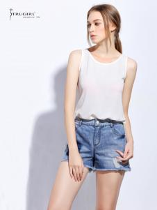 TRUGIRL楚阁女装新款牛仔超短裤