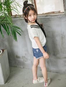 淘淘猫2017夏季新款白色T恤