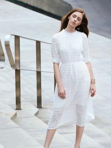 37度love女装新款白色连衣裙