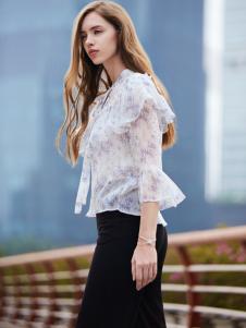 37度love女装新款白色衬衫