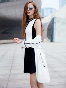 37度love女装新款无袖中长款连衣裙