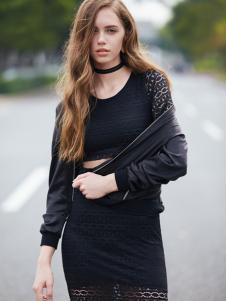 37度love女装新款黑色外套