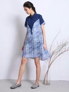 卡风女装2017新品中国风女裙