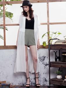 苏昔2017春夏新品白色罩衫