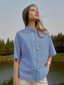 艺素2017春夏新品条纹衬衫