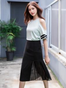 音非2017夏新款黑色半裙