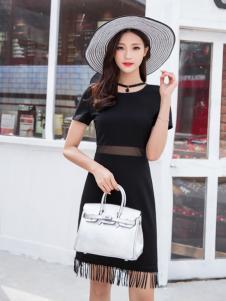 音非2017夏新款小黑裙
