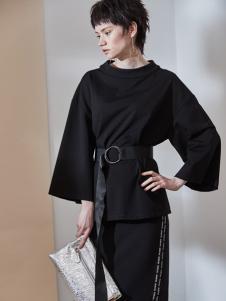 玛琪雅朵2017春夏新品黑色套装