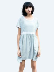 布卡拉女装UKHARA 布卡拉新款圆领连衣裙