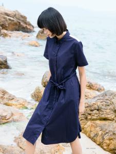 UKHARA 布卡拉新款蓝色连衣裙