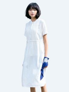 UKHARA 布卡拉白色短袖连衣裙