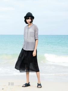 UKHARA 布卡拉新款灰色衬衫