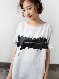拾卡SAYKA2017白色T恤