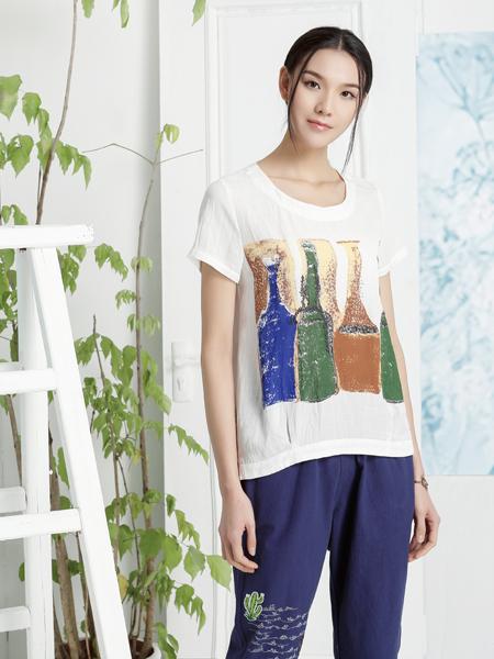 丽比多2017新款印花纯棉T恤