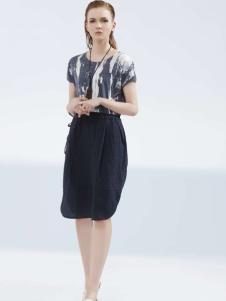 约布女装2017夏款拼接连衣裙