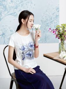 丽比多2017新款印染白色T恤