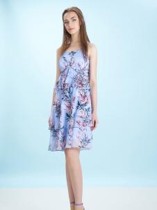卡索17夏新款唯美吊带裙