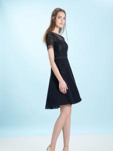 卡索17夏新款小黑裙