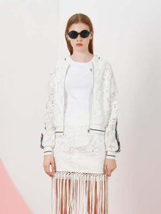 YDG2017新款镂空白色外套