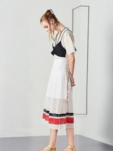 YDG2017新款白色短袖连衣裙
