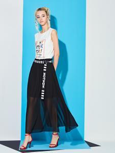 YDG2017新款雪纺两层半身裙