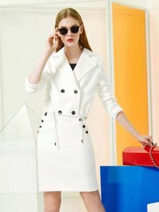 YDG2017新款白色修身连衣裙