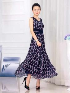 迪丝爱尔夏长款优雅连衣裙