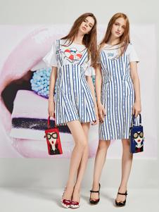 YDG2017新款条纹连衣裙