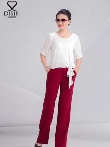 迪丝爱尔夏季新款白色棉麻T恤