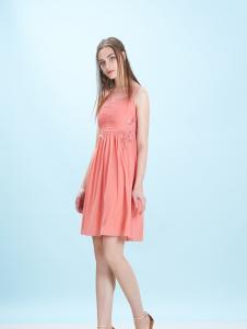 卡索夏新款甜美修身连衣裙