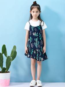卓维乐女童吊带裙