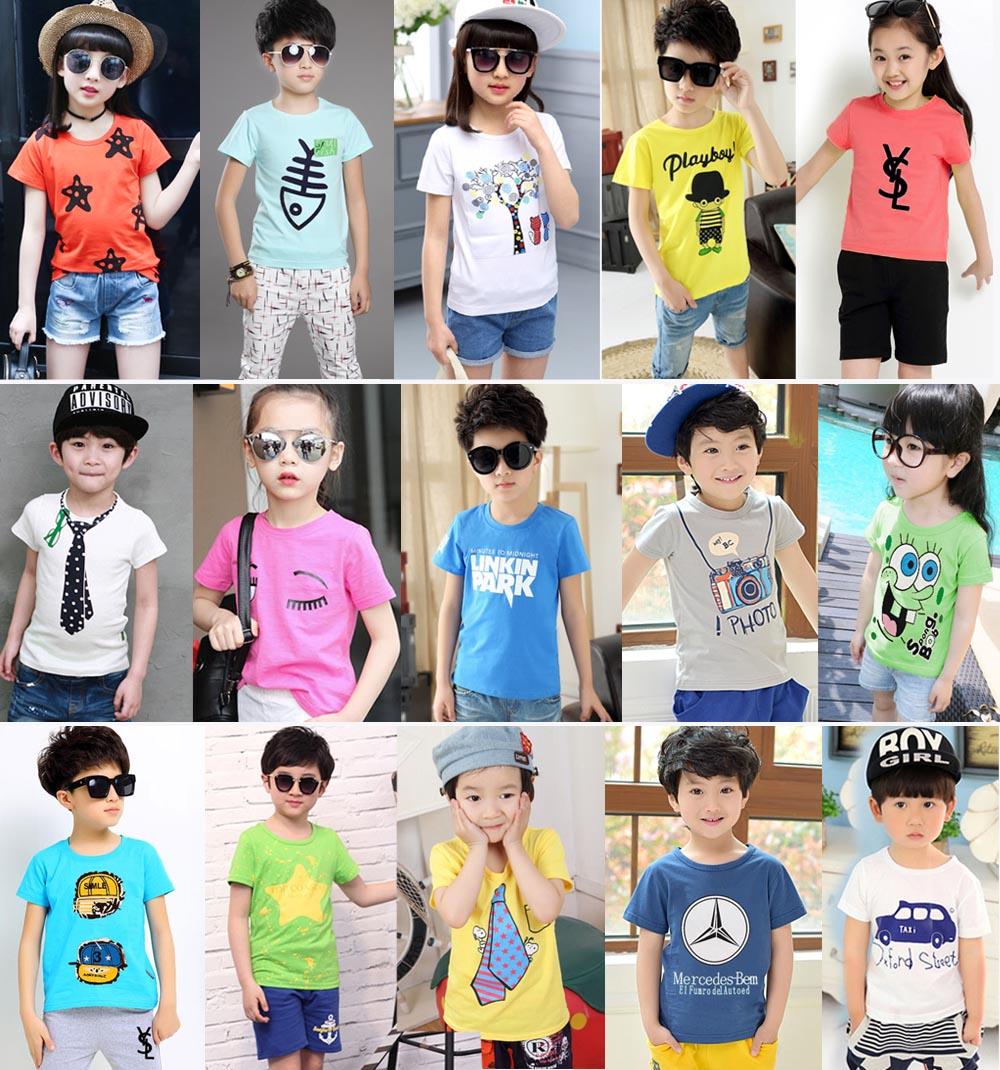 便宜夏季童装T恤套装印花儿童套装货源