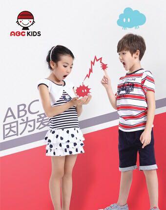 大牌童装批发 ABC夏装时尚韩版童装品牌折扣