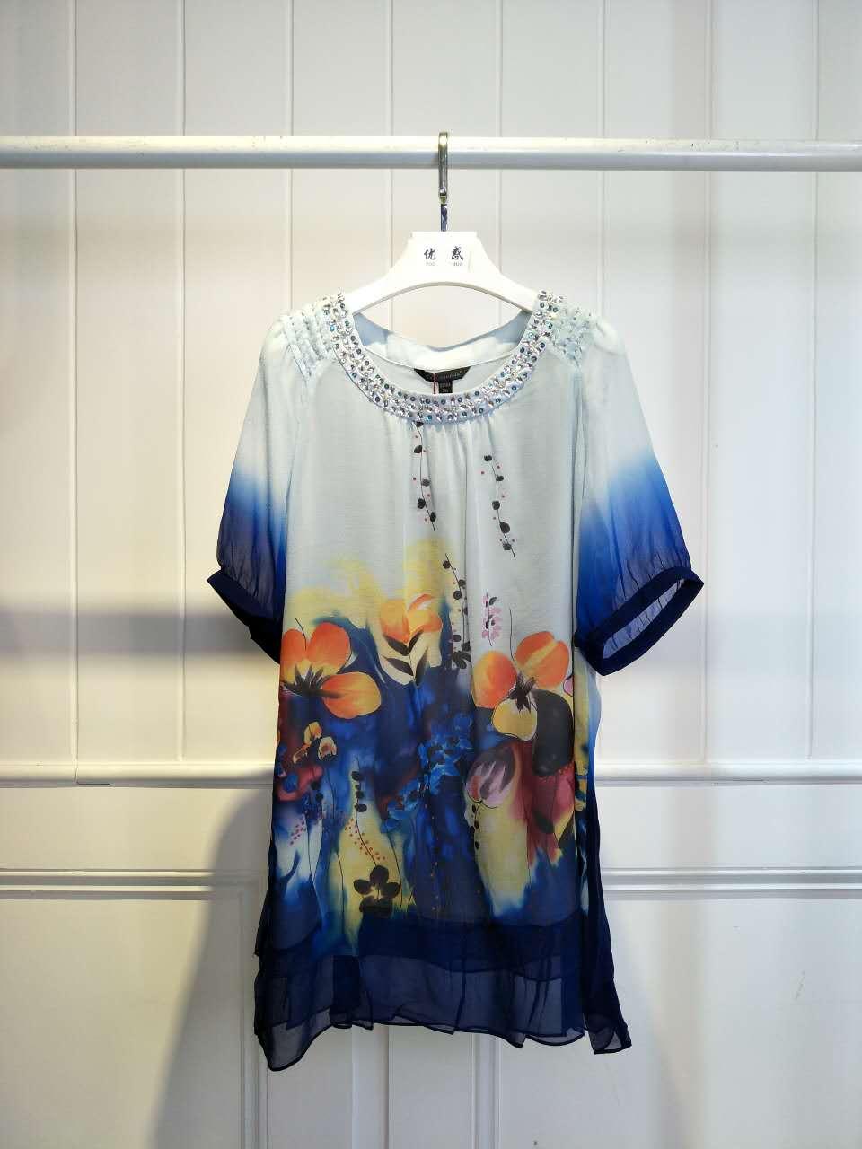世纪蓝天夏装连衣裙 品牌折扣三标齐全女装库存