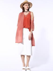 迪斯廷凯2017新款夏季白色半身裙