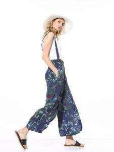 迪斯廷凯2017新款夏季背带裤