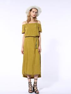 迪斯廷凯2017新款夏季吊带长裙