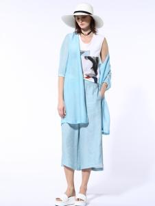 迪斯廷凯2017新款夏季蓝色套装