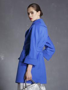 玛歌玛俐蓝色显瘦外套
