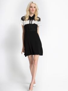 依路佑妮17夏蕾丝时尚连衣裙