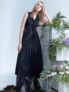 红贝缇2017春夏新款优雅连衣裙
