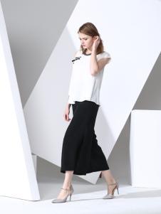 凯伦诗2017春夏新款黑色半身裙