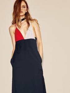 摩登时尚西蔻17新款设计师范吊带裙