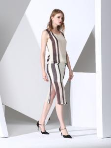 凯伦诗2017春夏新款无袖套装