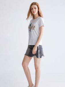 都市衣柜新款圆领短袖T恤